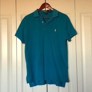 Turquoise men's Ralph Lauren polo